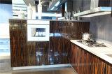 高い光沢のある木製のVennerの終わりの食器棚