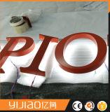 segni posteriori di affari di Lit di 3D LED con la lettera del metallo