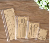 PVC simple de Design Transparet Brushes Bag avec Ziplock