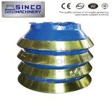 Metso Teile der Zerkleinerungsmaschine-Mn18cr2 und Mn22cr2 konkav und Umhang