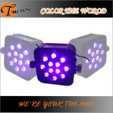 Draadloze 12X17W RGBWA+UV 6in1 LED Flat PAR Can