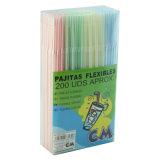 2016 néon Colors Flexible Straws (Packed dans Soft Dispenser)