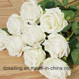 단 하나 줄기 로즈 훈장 (SW03332)를 위한 양털로 만드는 인공적인 결혼식 꽃