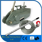 5.4t Construction Usage Wire Rope Manual Portable Hand Winch