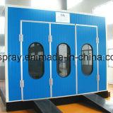 Cabina de rociado con sistema de calefacción eléctrica