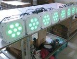 DMX drahtloses flaches NENNWERT 7X15W Rgbaw LED Weihnachtslicht