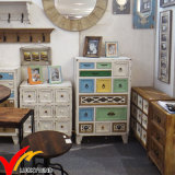 Do vintage Home preto Handmade do gabinete do Commode mobília francesa da sala de visitas