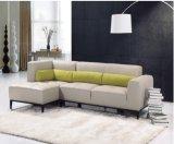 家の使用(SF015)のためのシンプルな設計L形の革ソファー