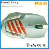 la souris rougeoyante ergonomique du jeu 6D avec le défilement peut faire l'exposition de DEL
