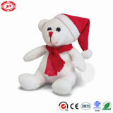Teddy White Sitting Bear Cute Xmas Best Plush Kids Toy