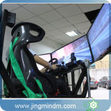 2016の遊園地、ショッピングモールのためのシミュレーターを運転する最も新しい様式のフィンランド3スクリーンのカーレースのゲーム・マシン