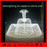 LED-bunte große im Freien dekorative Weihnachtsbrunnen-Leuchte