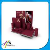 Carrinhos de indicador de madeira luxuosos da mostra do ofício do carrinho de indicador da jóia