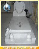 Ontwerp van het Hart van de Grafsteen van het graniet het Dubbele
