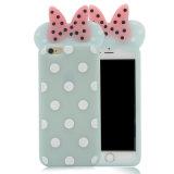 Cubierta del teléfono móvil del iPhone 6 7plus Minnie Mickey de la caja del teléfono del silicón de S7 J5 J7 (XSD-061)