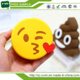 Carregador de bateria portátil macio do telefone do PVC do banco quente da potência de Emoji do divertimento dos desenhos animados do Sell 2000mAh