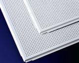 Tuiles en plafond en aluminium perforées blanches