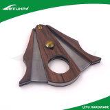Cortador de cigarro de madera del acero inoxidable del shell del regalo superior