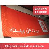 Bandeira poli relativa à promoção impressa costume de pano da tela do poliéster