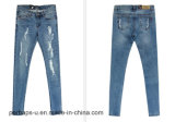 Les jeans déchirés par mode de femmes de qualité amincissent le pantalon de tailles importantes