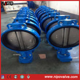 Getto Iron Wafer Type Butterfly Valve in Handle /Worm Gear