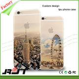 Casos transparentes de la cubierta del teléfono móvil de la impresión TPU del paisaje para el iPhone 6 6s más