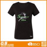 여자의 달리는 스포츠 형식 빠른 건조한 t-셔츠