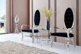 현대 호화스러운 스테인리스 유리제 Frech 식탁 의자