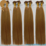 Extensions plates pré métallisées de cheveu d'extrémité de cheveux humains de Remy en vente