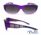 Plástico caliente de la venta ajustado sobre las gafas de sol para el hombre/las mujeres