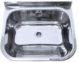 Cuba do dissipador da bacia da lavanderia única, bacia de lavagem do SUS 304 do aço inoxidável