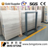 中国White Wooden Vein Marble Tiles、Paving Marble Slabs、FlooringのためのNatural Stone Walling Marble Tile
