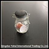 tarro de cristal del almacenaje de la tapa del clip 100ml