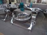電気加熱ジャケットの鍋のやかんを傾けるステンレス鋼
