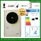 Preço em o abastecedor rachado do calor da bobina do quarto 12kw/19kw/35kw do medidor do assoalho Heating100~350sq do inverno da tecnologia -25c de Hungria Evi do calefator de água elétrico