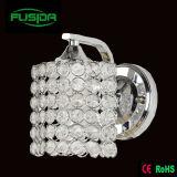 Uma ou dois lâmpadas de parede de cristal do quadrado do cromo das lâmpadas