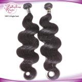 加工されていないボディ波のバージンのインドの毛100%の人間の毛髪の拡張