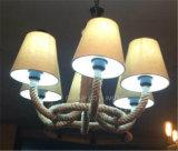 Iluminación interior de la lámpara pendiente de la decoración de Phine con la cortina de la tela