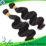 Популярная чернота и волосы Ponytail Brown перуанские людские Remy