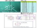 Pipe de guidage d'éclairage LED en plastique fait sur commande de l'espace libre 5mm