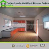 Casa prefabricada de la casa portable del chalet de la estructura de acero con los recursos de interior para la venta