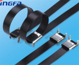 Steel inoxidable Cable Ties Wing Lock Type avec PVC Coated