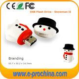 Azionamento caldo dell'istantaneo del USB del regalo di natale del pupazzo di neve di vendita per il campione libero