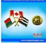 Badge de drapeau de l'émail Emblème de l'amitié