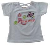 プリントSgt-082が付いている子供の子供の衣服の服装の美しい女の子のTシャツの衣服