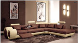 Leather tenuto da adesivo Corner Leather Sofa per Sectional Sofa Furniture
