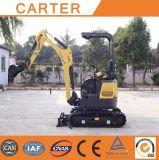 Máquina escavadora da esteira rolante Multifunction hidráulica de CT16-9dp (com dossel) mini
