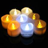 Vela maquillaje de la boda romántica Feel LED vela más cálido de la luz blanca