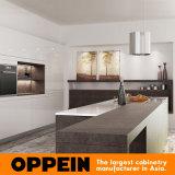 Armadio da cucina di legno di lusso moderno con l'isola di superficie sinterizzata naturale (OP16-L22)