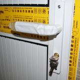 Porta de alumínio revestida do Casement do pó branco da cor com tamanho grande Kz152 do painel de alumínio